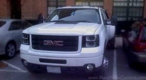 2007 Gmc Sierra Custom Black And White Headlights
