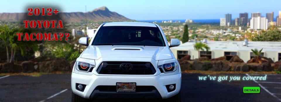 Toyota Tacoma HID Projector Retrofit Headlights w/Custom Black & White Paint