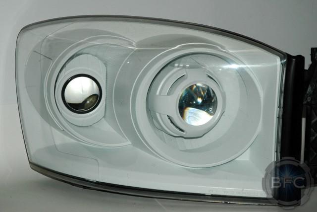 Dodge Ram All White Fxr Retrofits on Projector Headlight Wiring