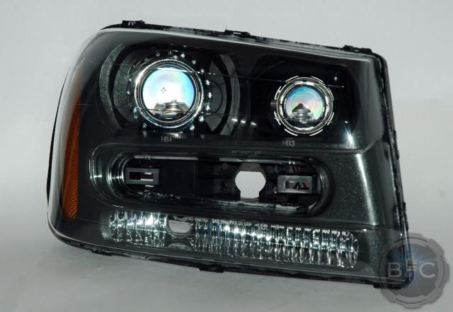 2008 Chevy Trailblazer Quad HID Projector Retrofit Package OEM Look | BlackFlameCustoms.com