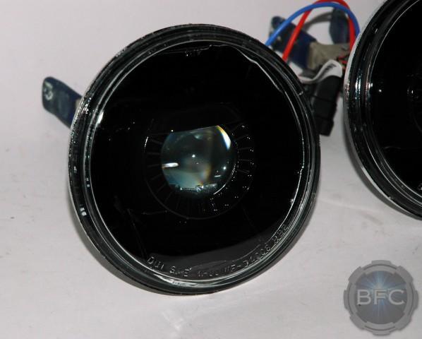 chevelle hid projector retrofit headlight conversion housings  black blackflamecustomscom