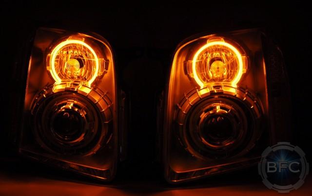 2013 GMC Denali Quad Halo HID Headlights