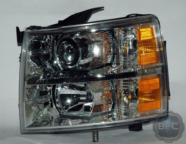 Silverado Iris Chrome Projector Headlights