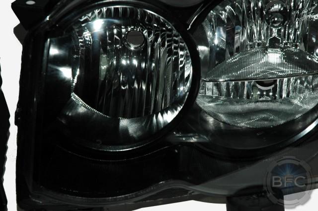 2010 Grand Cherokee Custom Black Headlights