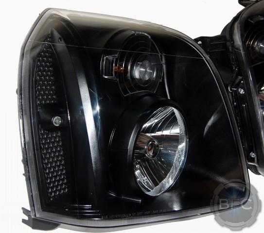 2011 Gmc Yukon Black Painted Custom Headlights