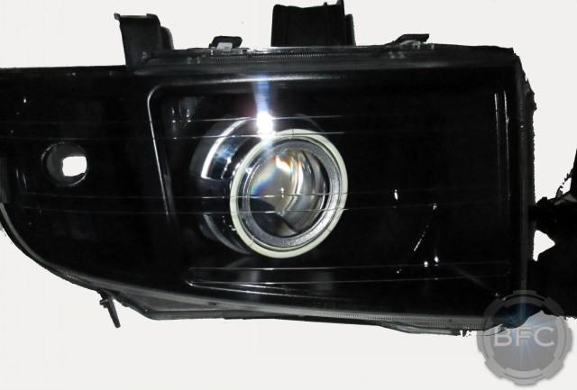 2007 Honda Ridgeline HID Projector Headlights with LED Halos | BlackFlameCustoms.com