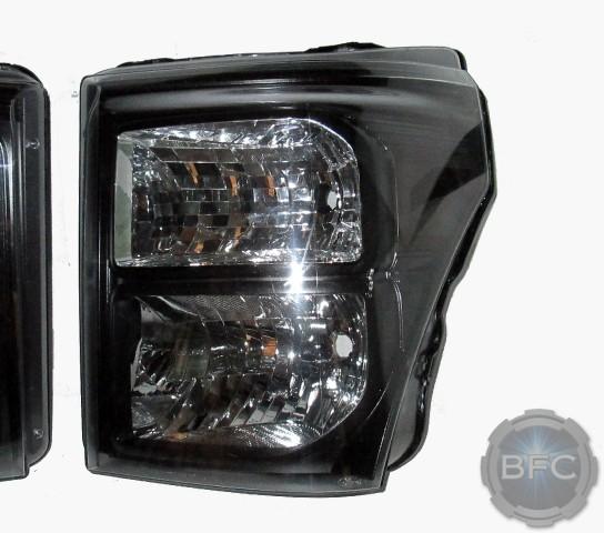 2012 F350 Black Headlights