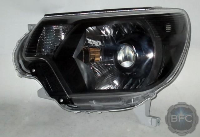 Toyota Tacoma Headlights >> 2014 Toyota Tacoma HID Projector Retrofit Headlight Package Black Chrome | BlackFlameCustoms.com