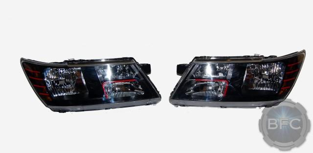 2013 Dodge Journey Black Amp Red Custom Headlights