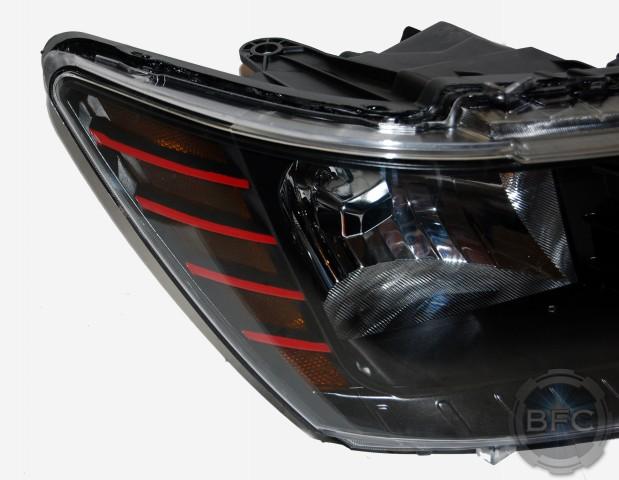 2013 Dodge Journey Black Amp Red Custom Headlights Blackflamecustoms Com