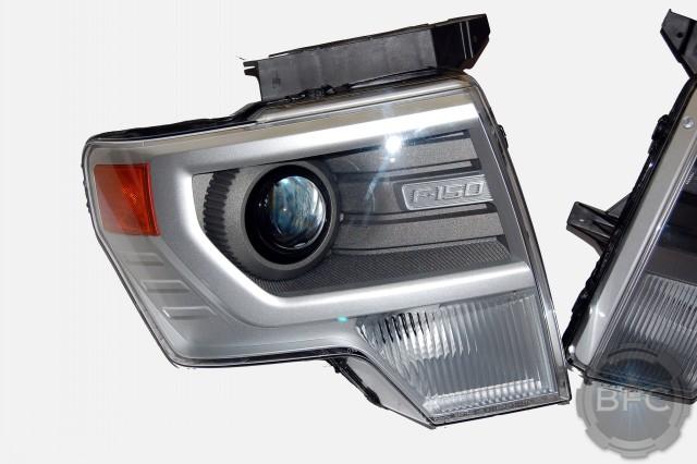 2014 Ford F150 HID Projector Headlights Custom Paint