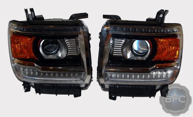 2014-2015 gmc sierra & denali complete hid projector ... 2015 sierra headlights hid wiring h1 hid wiring diagram #5