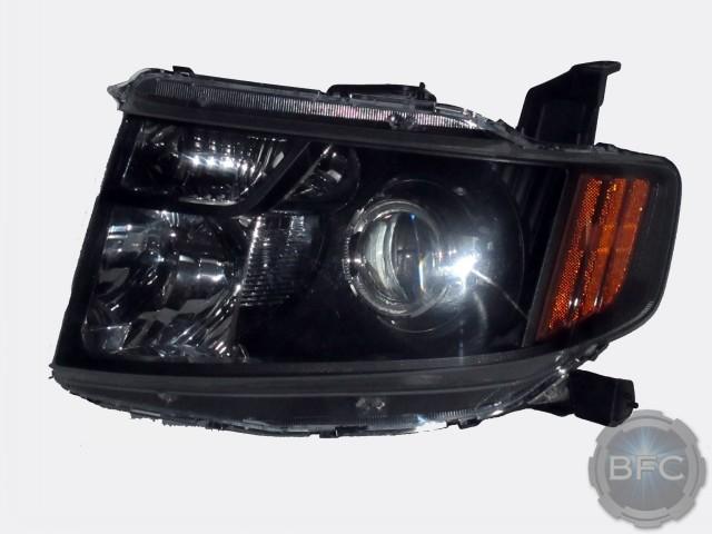 Honda Element Black Chrome Headlights on Toyota Headlights