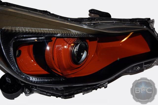 Subaru Crosstrek 2014 >> 2014 Subaru Crosstrek HID Projector Headlights Black & Orange | BlackFlameCustoms.com