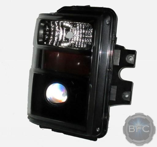 2008 Superduty HID Projector Headlights Black Chrome