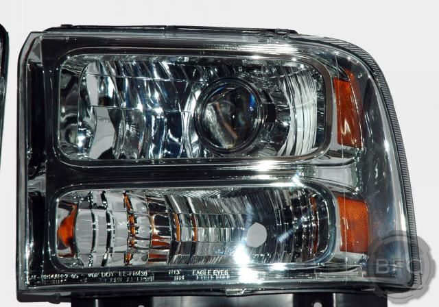 Superduty Chrome Hid Headlights on Projector Headlight Wiring