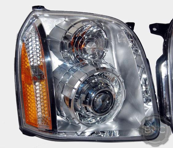 2011 GMC Yukon Denali HID Chrome Headlights