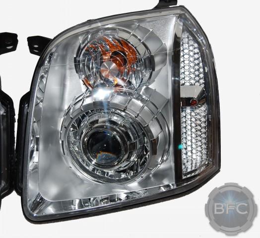 GMC Yukon Denali All Chrome HID Projector Headlights
