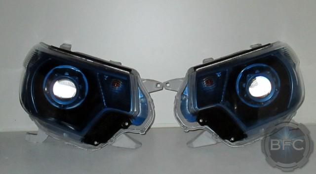 2013 Tacoma Black Blue HID Headlights