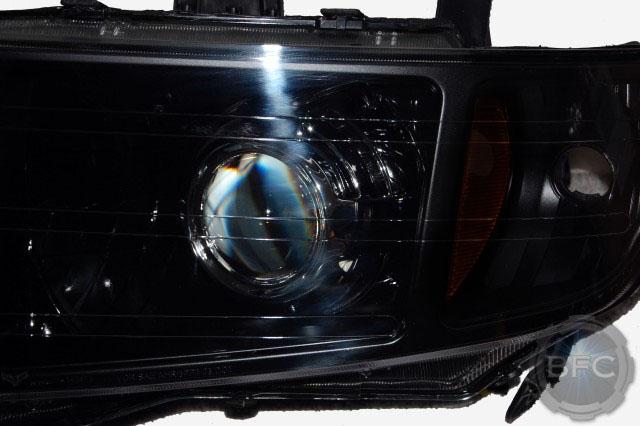 2007 Honda Ridgeline Black Chrome HID Projector Headlight ...