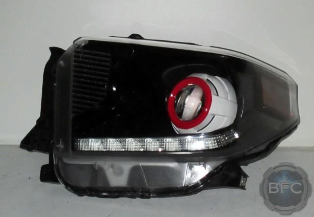 2015 Tundra Black White Red Headlights