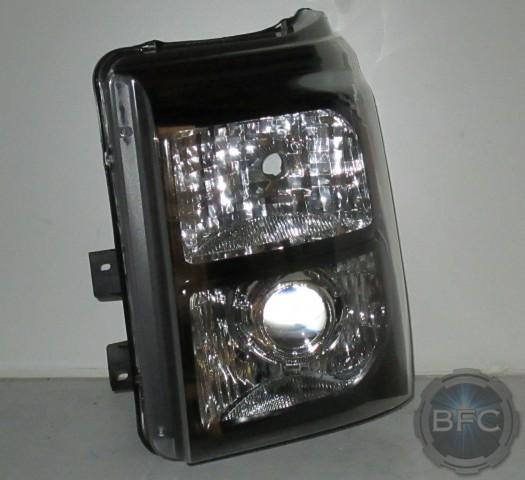 2011 Ford Superduty HID Black Chrome Amber Headlight Retrofits