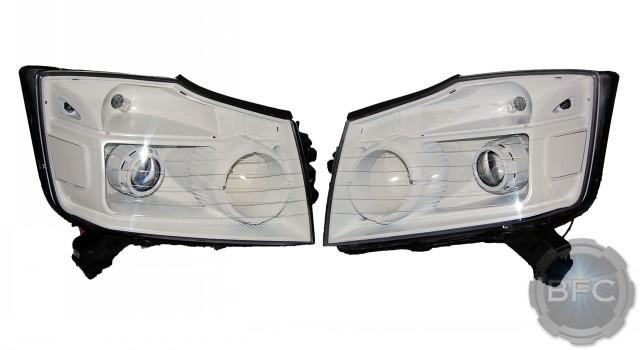 2013 Nissan Armada White HID Retrofit Headlights