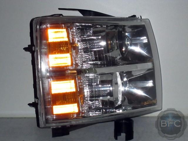 Silverado Chrome Mh Hid Headlights on Projector Headlight Wiring
