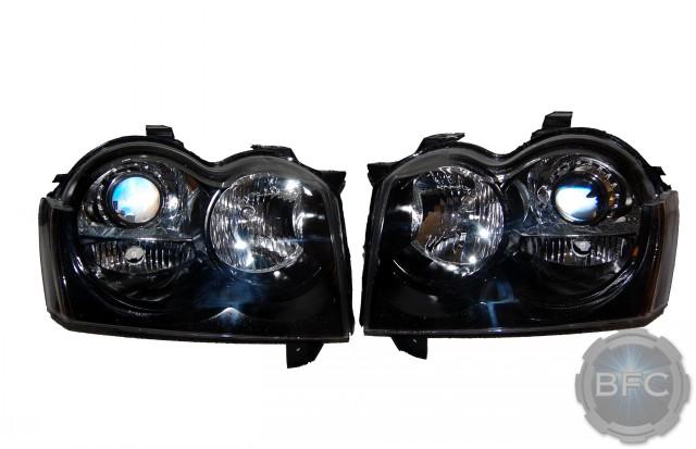 2007 jeep grand cherokee srt 8 black chrome hid retrofit headlights rh blackflamecustoms com