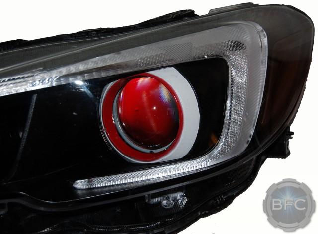2015 Subaru Wrx Black White Red Custom Painted Headlights