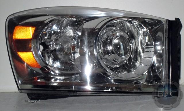 2006 Dodge Ram Chrome D2S HID Projector Headlights