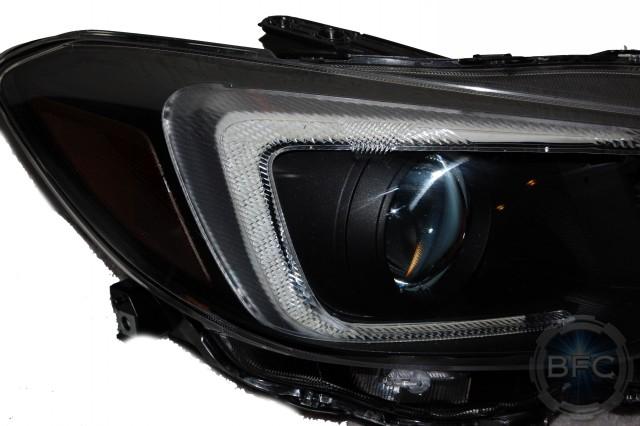 2015 Subaru Wrx Black Red Hid Headlight Housings