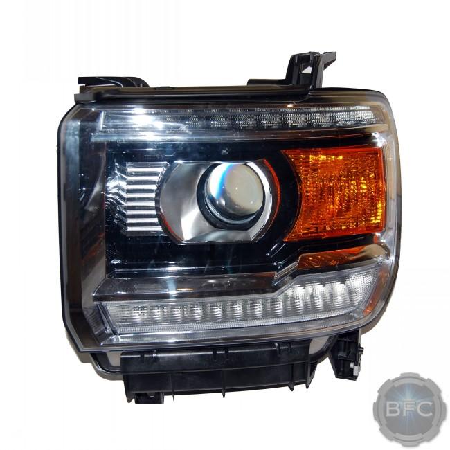 2014-2015 gmc sierra & denali complete hid projector headlight retrofit  package