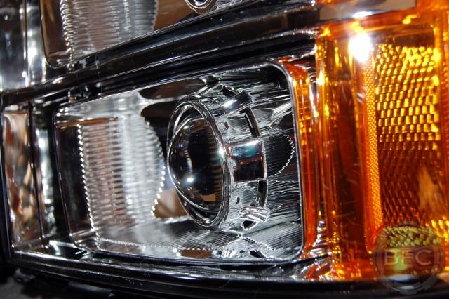 11 GMC Sierra Quad Chrome HID Headlamps