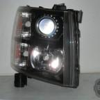 2011 Chevy Silverado Black Chrome HID Headlights