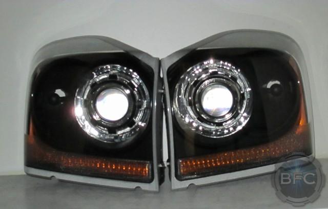 2012 F250 Headlights >> 2005 Dodge Durango Black & Chrome HID Projector Headlights | BlackFlameCustoms.com