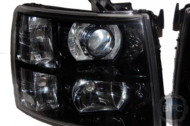 2008 Chevy Silverado Black Chrome Hid Projectors