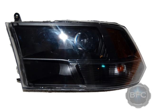 2011 Dodge Ram Black Hid Projector Headlight Retrofit
