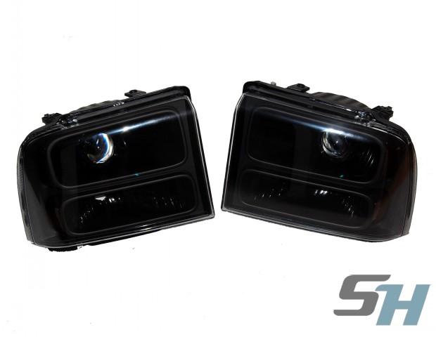 2007 Ford Superduty All Black HID Projector Headlamps Retrofits