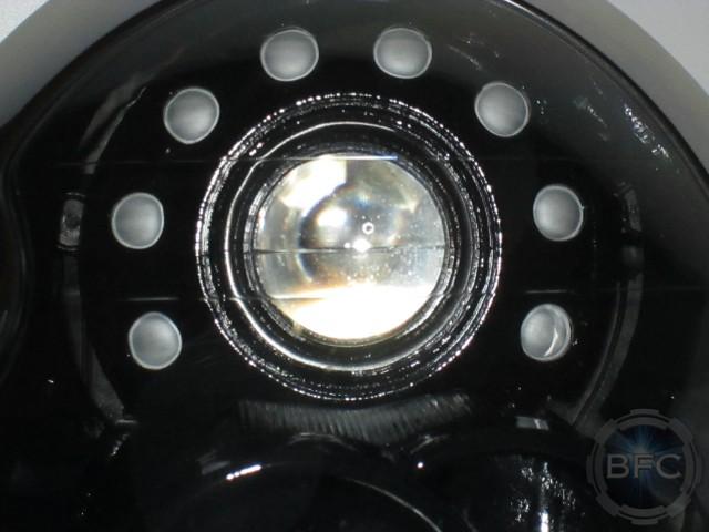 2006 Mini Cooper Black & White Custom Painted Headlights