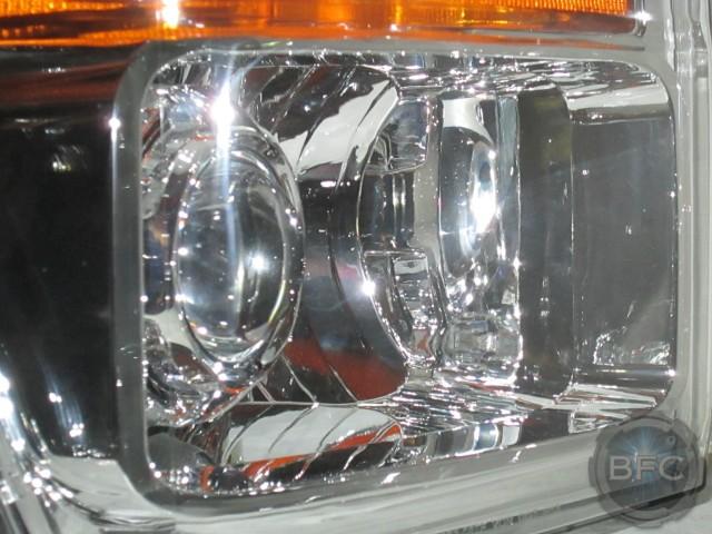 2010 Ford Superduty All Chrome HID Projector Retrofit D2S Headlamps