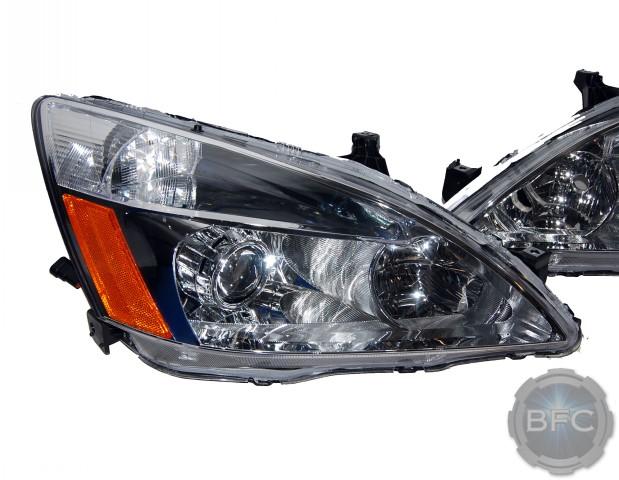 honda accord mh chrome hid projector retrofit headlight package blackflamecustomscom