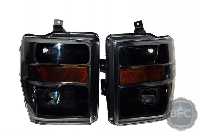 2008 Ford F350 Super Duty All Black Projector Headlight ...