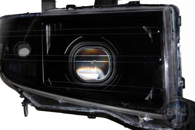 2010 Honda Ridgeline Square All Black HID Headlights