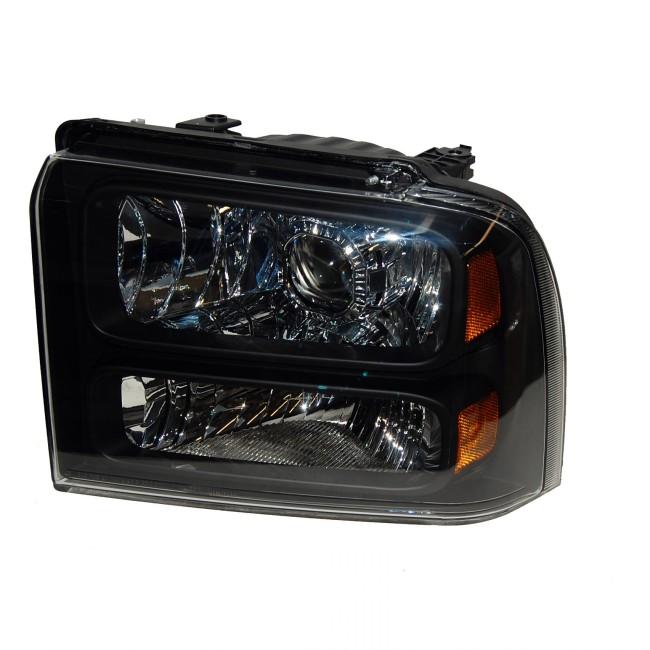 2005-2007 Ford Superduty HID Projector Headlight Retrofit Conversion Package BLACK – Pre-Configured