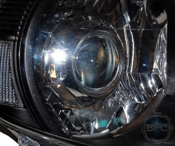 2007 Toyota Tacoma Black & Chrome HID D2S Projector Retrofit Headlamps