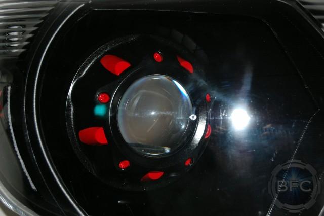 2012 Toyota Tacoma Black & Red TX Baja Series HID Headlights