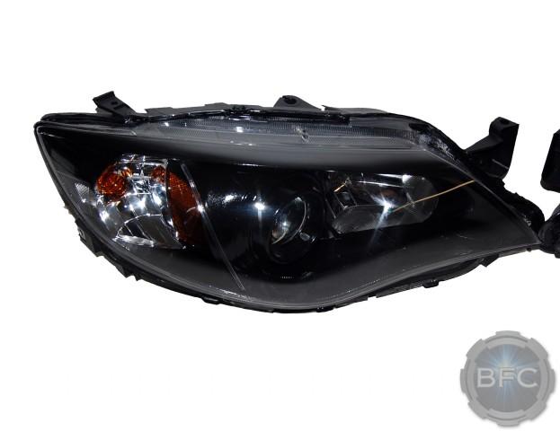 2013 Subaru Impreza WRX D2S HID Projector Retrofit Headlights Black