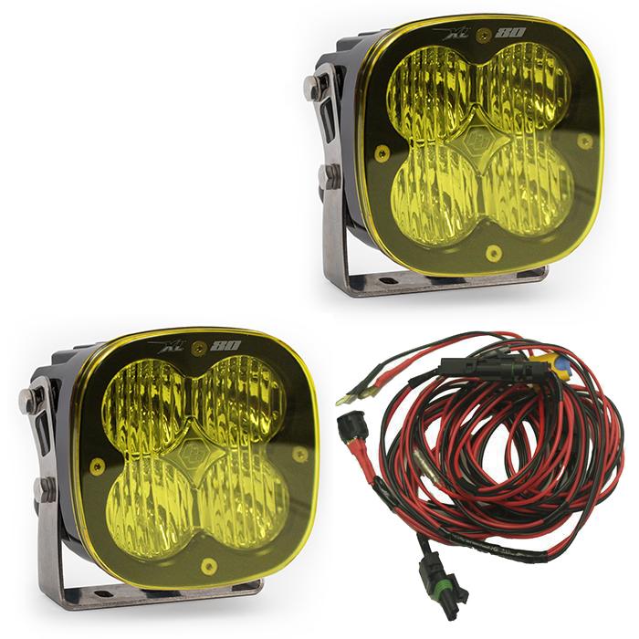 XL80 LED Wide Cornering Light Pair AMBER by Baja Designs