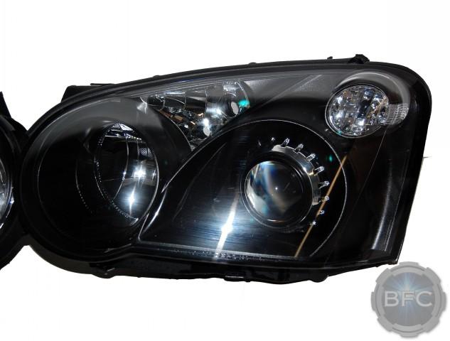 2005 Subaru Impreza WRX Black & Chrome HID Projector Retrofit Headlamps